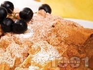 Рецепта Лесен ябълков щрудел с кори от домашно тесто, стафиди и канела